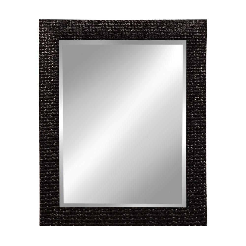 "Image of ""Kate & Laurel 23""""x29"""" Coolidge Framed Wall Beveled Vanity Mirror Black"""