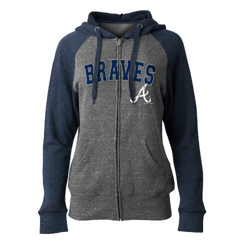 promo code 99bc6 48552 Atlanta Braves Women's On Deck Full Zip Hoodie L