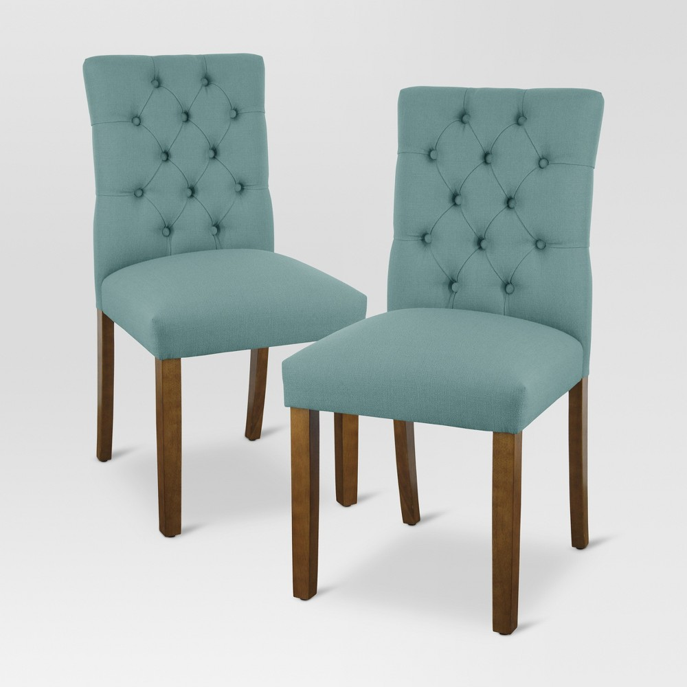 Brookline Tufted Dining Chair - Teal - Threshold, Sterling Laguna 1 Pack
