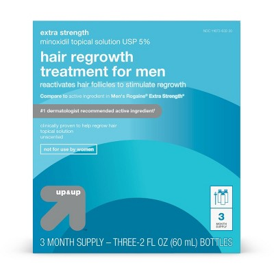 Extra Strength Minoxidil Hair Regrowth Treatment for Men - 2 fl oz each - up & up™