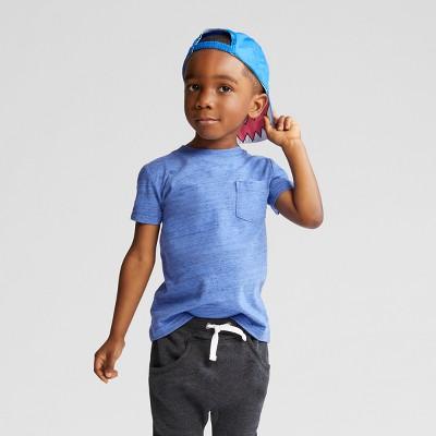 Toddler Boys' Pocket Short Sleeve T-Shirt - Cat & Jack™ Blue 12M