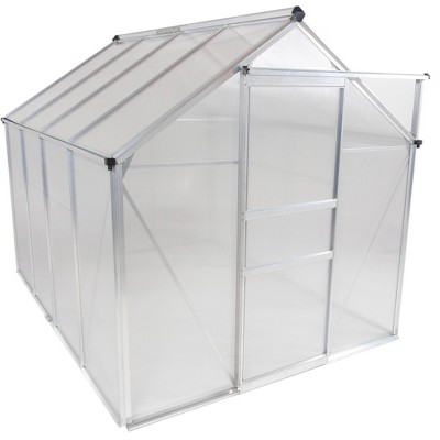 6'x 8' Walk-In Lawn and Garden Greenhouse Clear - OGrow