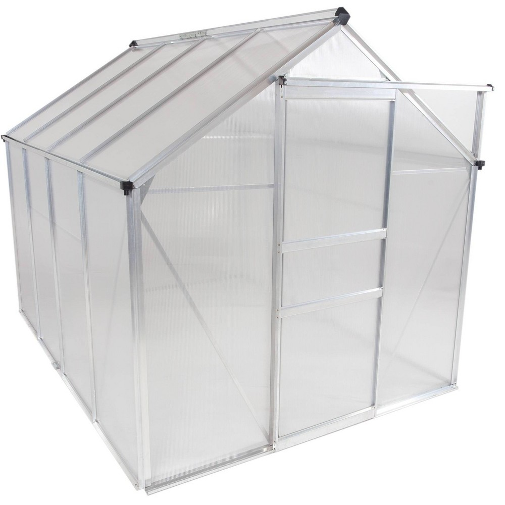 Image of 6'x 8' Walk-In Lawn and Garden Greenhouse Clear - OGrow