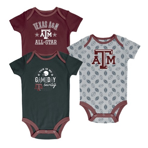 Texas A&M Aggies Baby Boy Short Sleeve 3pk Bodysuit - image 1 of 4