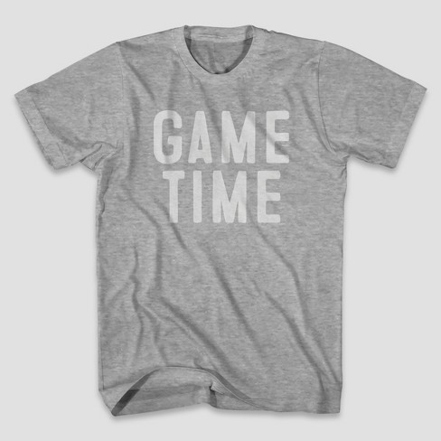 Men's Short Sleeve Game Time Graphic T-Shirt - Heather Gray - image 1 of 1