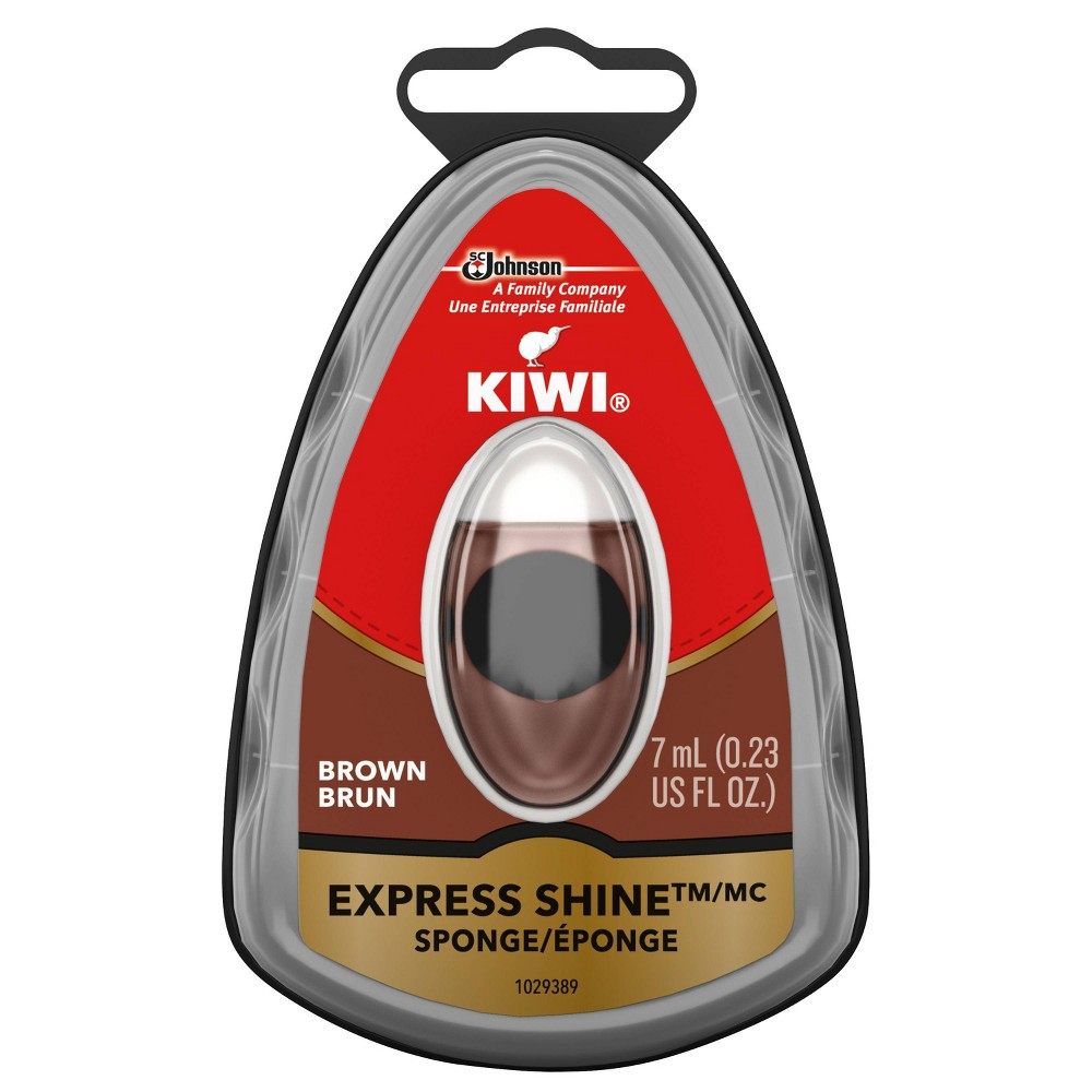 Image of Kiwi Express Shine Sponge - Brown, Kids Unisex, Size: Small