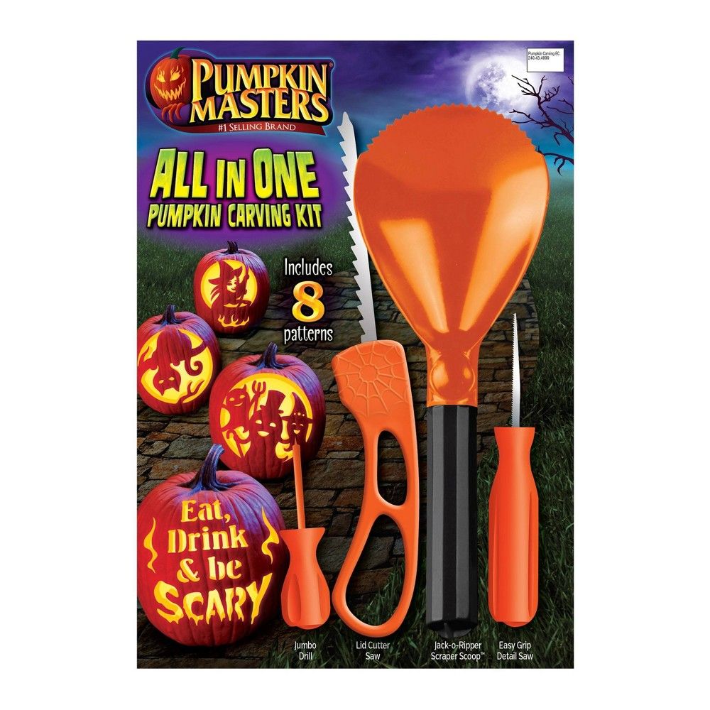 Image of Halloween Pumpkin Masters All in One Halloween Pumpkin Carving Kit