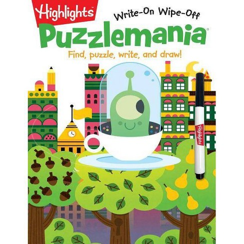 Puzzlemania(r) - (Highlights Write-On Wipe-Off Activity Books) (Paperback) - image 1 of 1