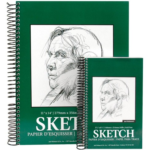Jack Richeson Sulphite Sketch Pad, 11 x 14 Inches, 60 lb, 100 Sheets - image 1 of 1