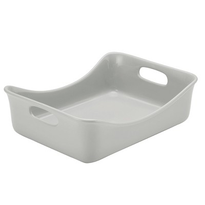 Rachael Ray 9 x12  Ceramic Rectangular Baker Gray