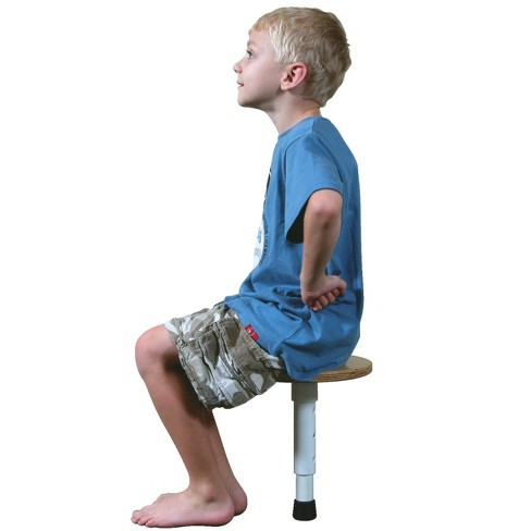 Abilitations Single Leg Round T-Stool, 10 to 14 Inch Adjustable Height Seat - image 1 of 1