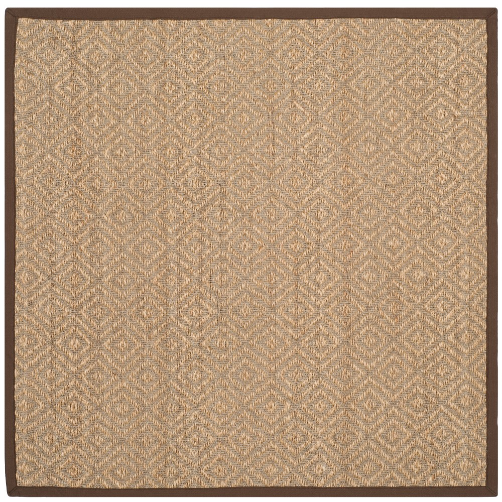 6'X6' Geometric Loomed Square Area Rug Natural/Brown - Safavieh
