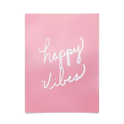 "18""x24"" Lisa Argyropoulos Happy Vibes Blushly Unframed Wall Poster Print Pink - Deny Designs"