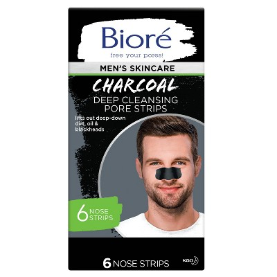 Biore Men's Charcoal Deep Cleansing Pore Strips - 6ct