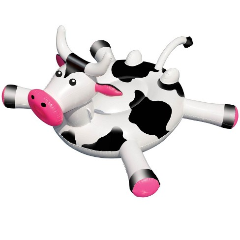 Swimline LOL 90268 Swimming Pool Kids Giant Rideable On Cow Inflatable Float Toy - image 1 of 4