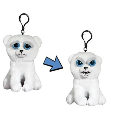 "William Mark Corp Feisty Pets 4"" Plush Keychain: Karl the Snarl Polar Bear"