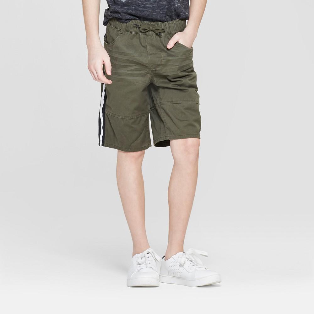 Boys' Side Stripe Shorts - art class Olive 12 Husky, Green