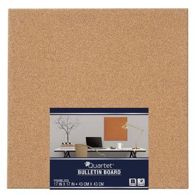 "Quartet 17"" Square Cork Bulletin Board Tile"