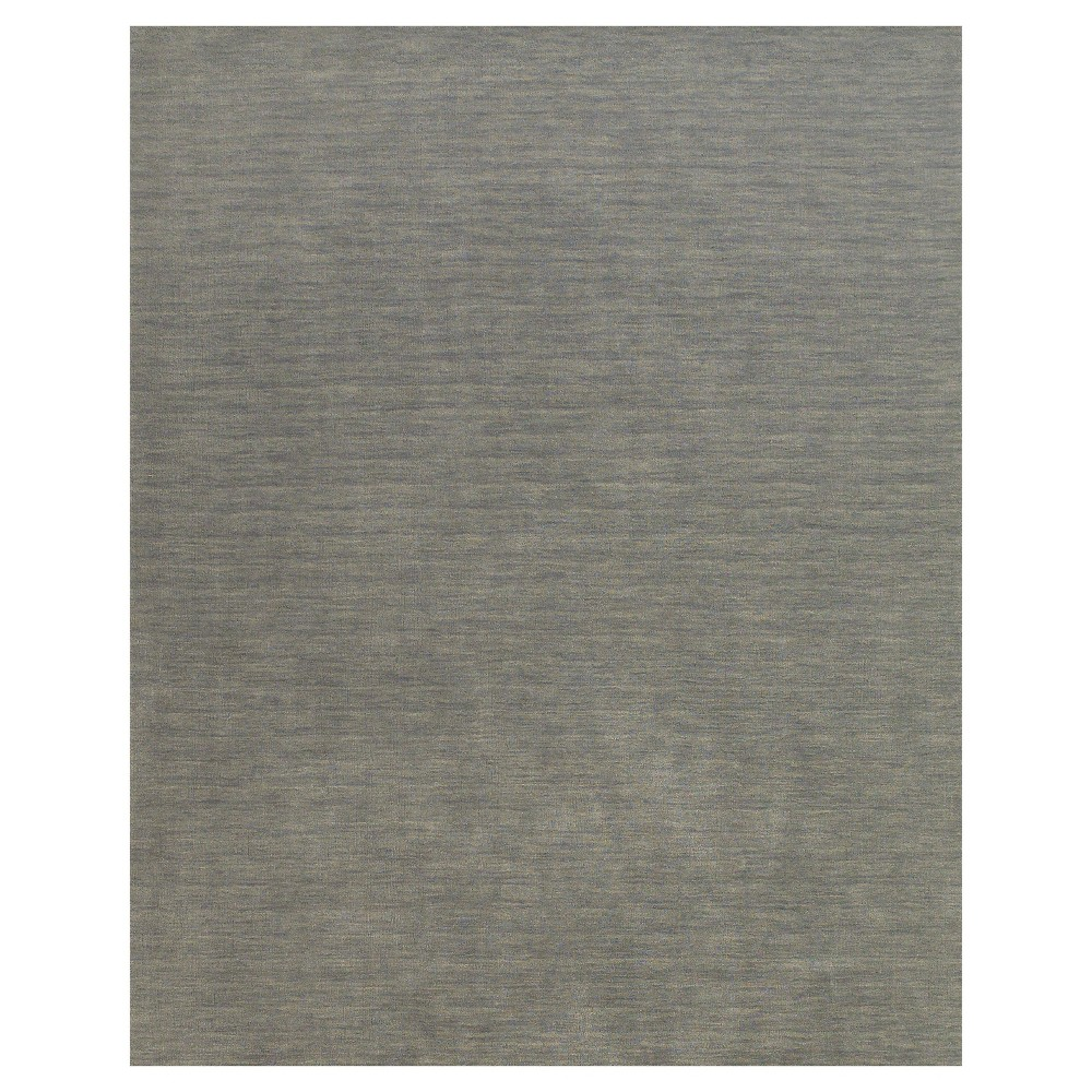 Top 5X8 Solid Woven Area Rugs Light Gray - Weave & Wander