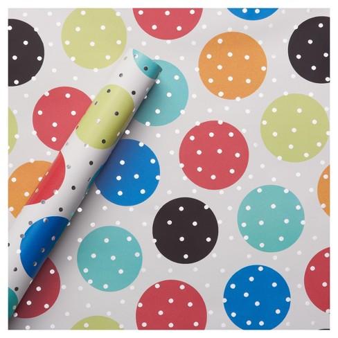Foil Gift Wrap Birthday Dots