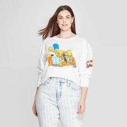 41483b13b Women's Simpsons Plus Size Long Sleeve Crewneck Cropped T-Shirt (Juniors') -