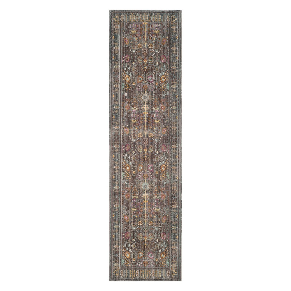 2'3X14' Floral Loomed Runner Blue - Safavieh, Blue/Multi-Colored