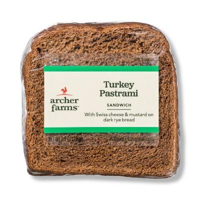 Turkey Pastrami on Rye Sandwich - 6.7oz - Archer Farms™