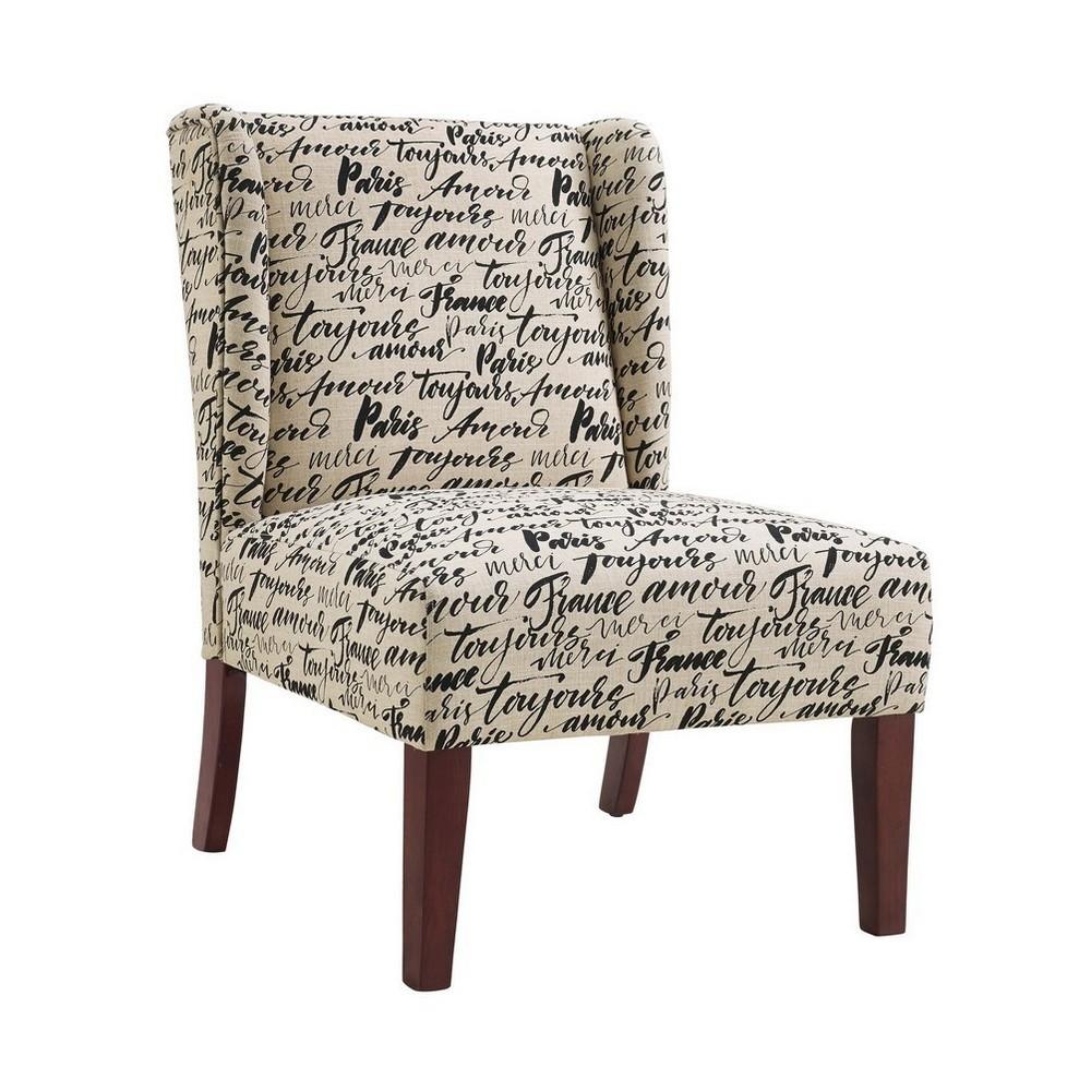 Grace Wing Back Chair White - Linon