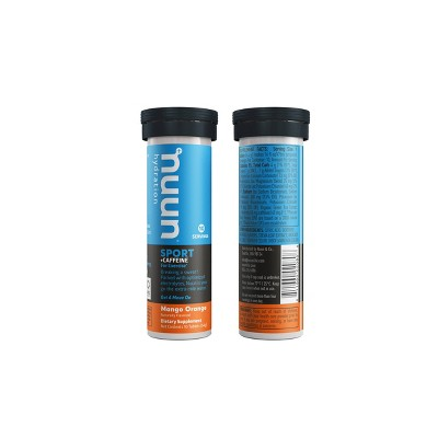 Nunn Sport + Caffeine Mango Orange Energy Supplements - 10ct