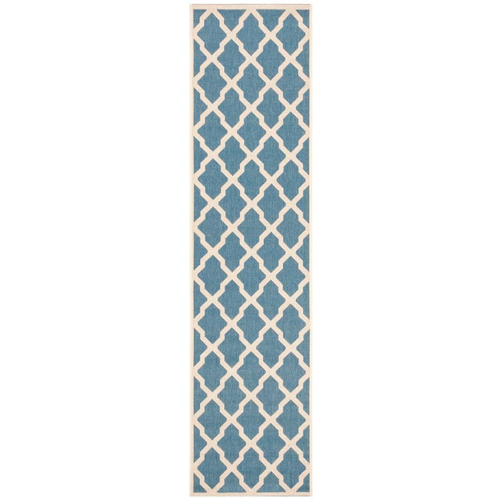 2X8 Geometric Loomed Runner Blue/Cream - Safavieh Reviews