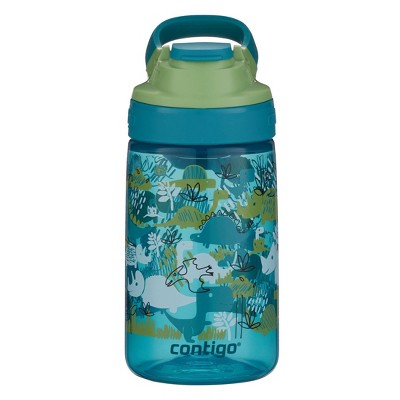 Contigo 14oz Plastic Kids Autoseal Gizmo Water Bottle Green