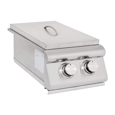 Blaze Grills 12,000 BTU Built-In Stainless Steel LTE Outdoor Double Side Burner with Drip Tray, Natural Gas
