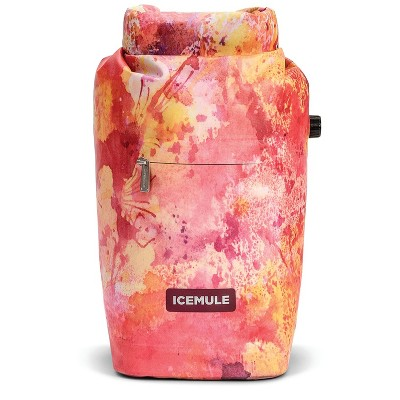 IceMule 1007-DT Jaunt Small Collapsible Portable Soft Sided Roll Top 9 Liter 6 Can Lightweight Insulated Waterproof Leak Proof Backpack Cooler Bag