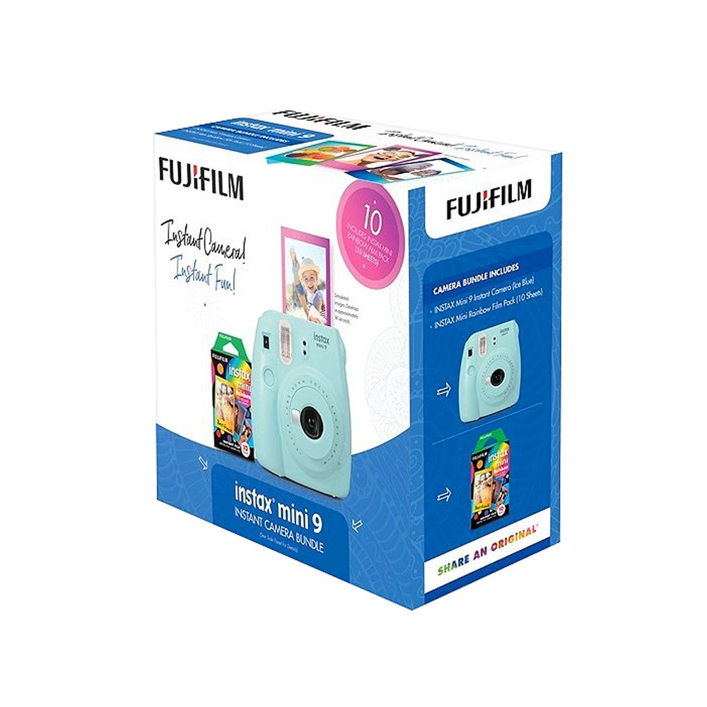 Instant Camera Fujifilm Instant Developing Film Auto Flash Blue, Ice Blue Instant Camera Fujifilm Instant Developing Film Auto Flash Blue Color: Ice Blue.