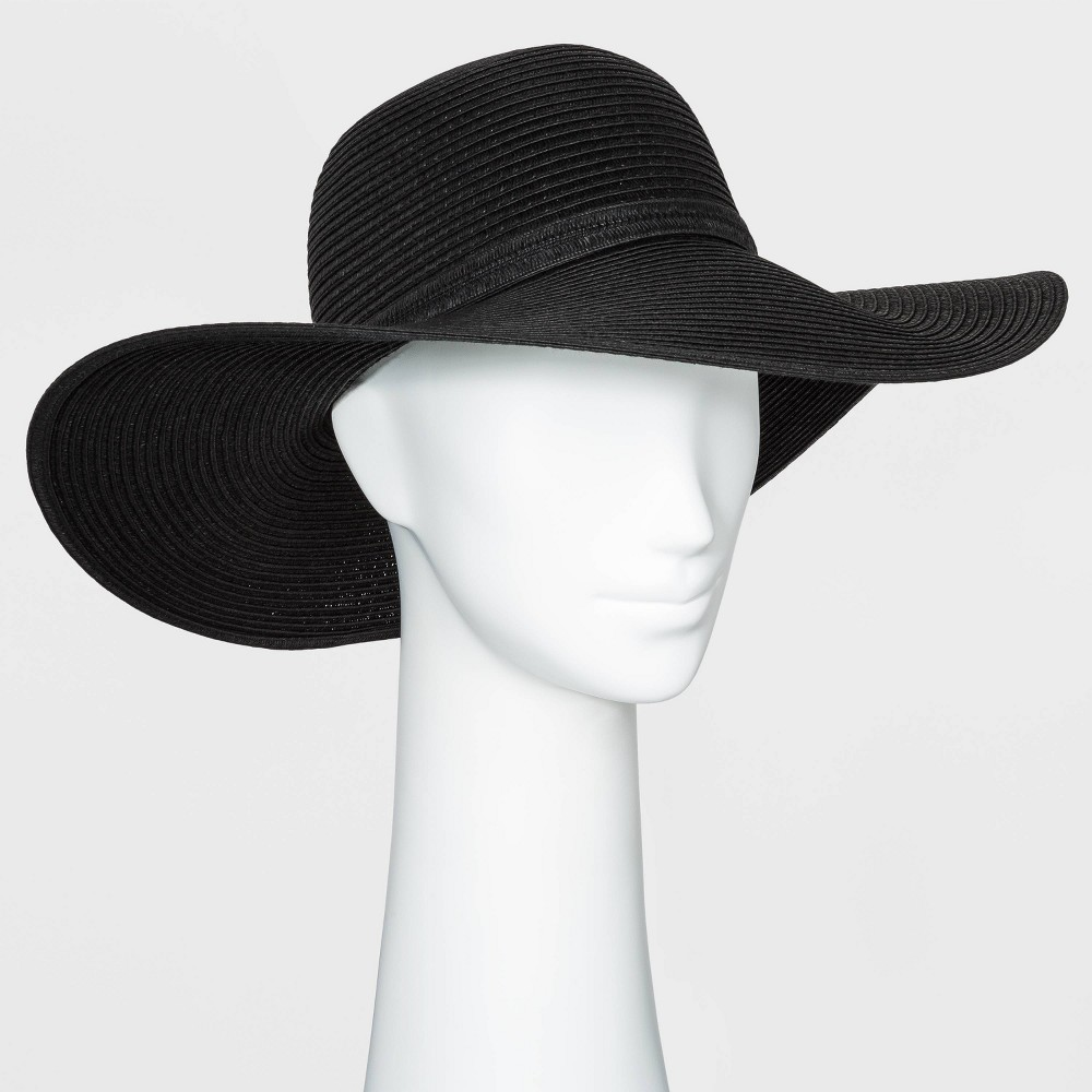 Promos Women' Packable Eential traw Floppy Hat - A New Day™ Black
