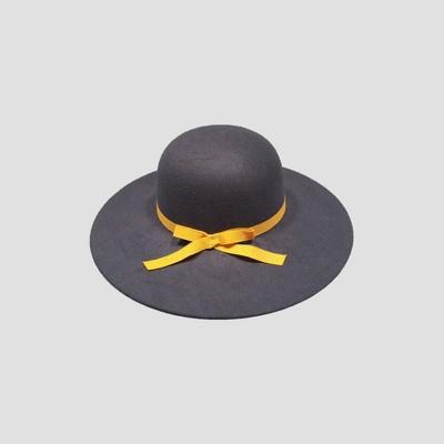 Toddler Girls' Faux Felt Floppy Hat with Poms - Cat & Jack™ Navy 2T-5T