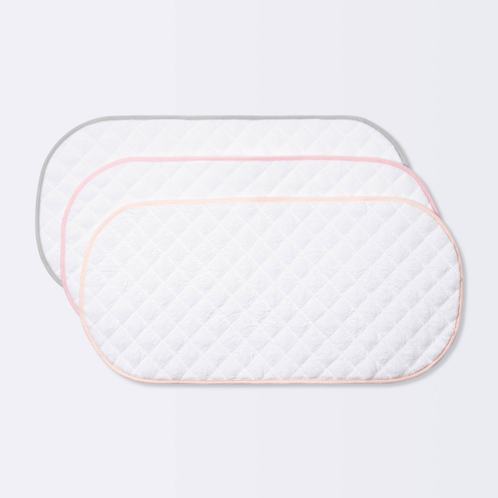Changing Pad Liner White With Pink Edge Cloud Island 8482 3pk