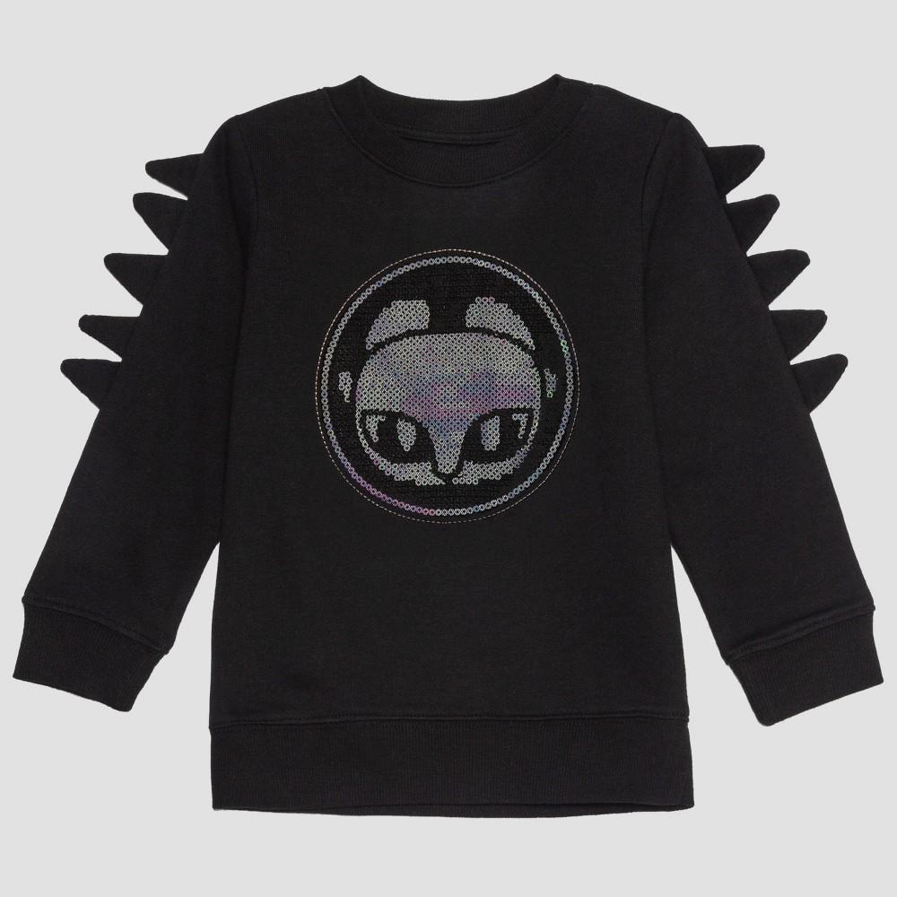 Toddler Girls' How to Train Your Dragon Light Fury Sweatshirt - Black 2T