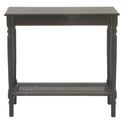 Wood Traditional Rectangular Console Table Black - Olivia & May