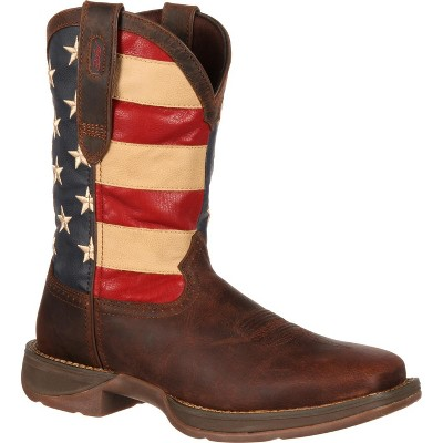 Durango Men's Patriotic Pull on Brown Western Boot