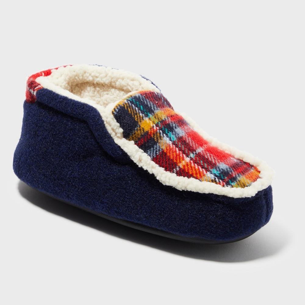 Boys' Dearfoams Bootie Slippers - Blue 2-3
