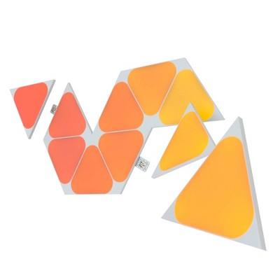 Nanoleaf 10pk Shapes Triangle Mini Expansion LED Light Kit