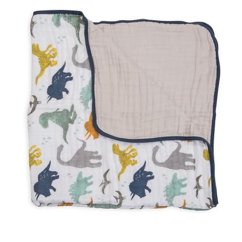 Little Unicorn Cotton Muslin Quilt - Dino Friends - image 1 of 3