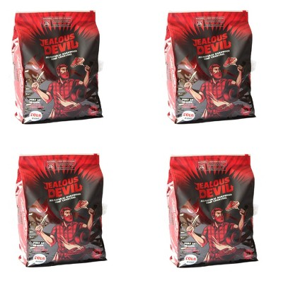 Jealous Devil 100 Percent Natural Wood Lump Grill Charcoal, 20 Pounds (4 Pack)