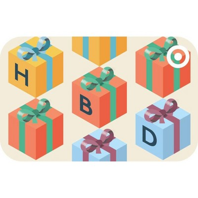 Happy Birthday Presents Target GiftCard