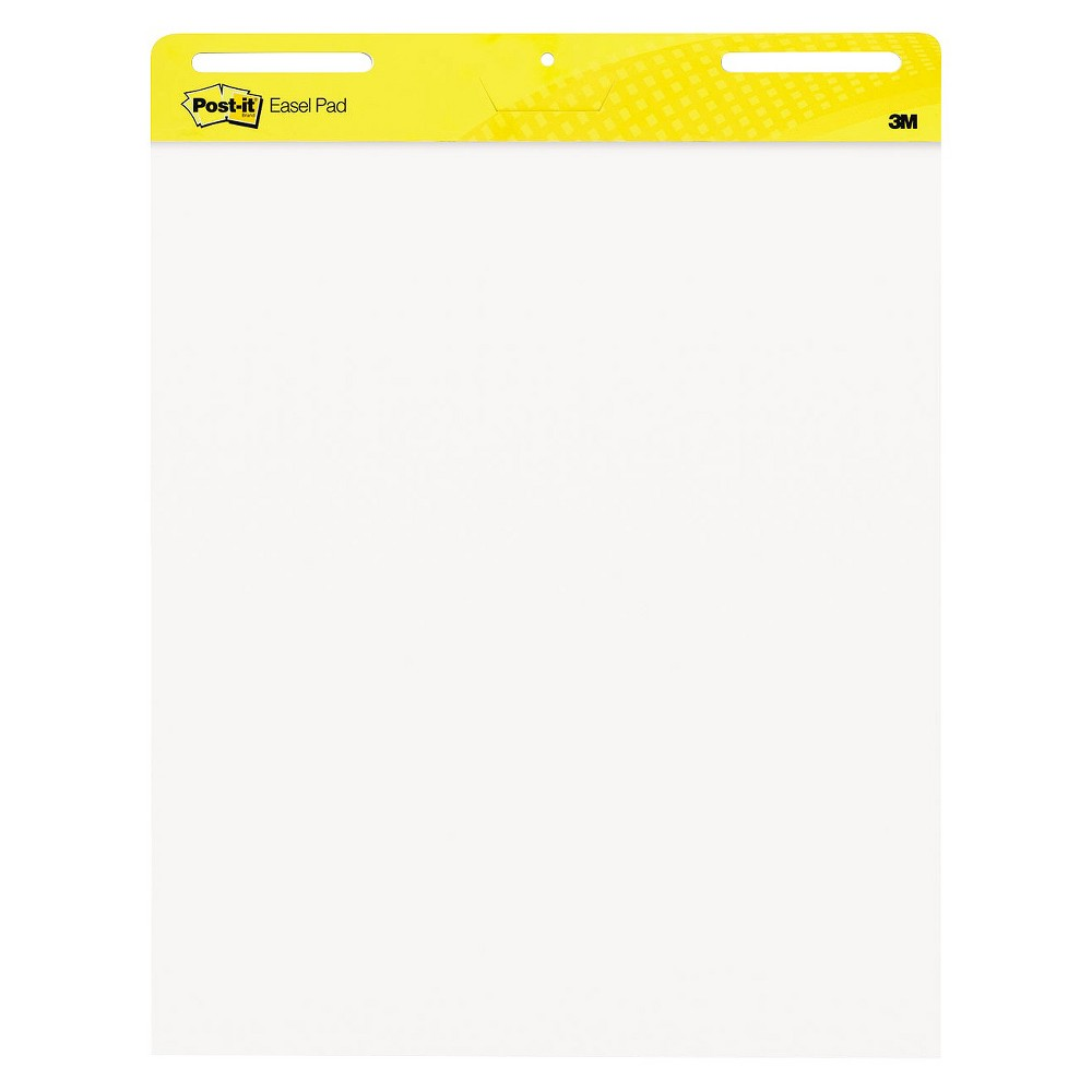Post-it Self Stick Easel Pads 2ct of 30 Sheets 25 x 30, White