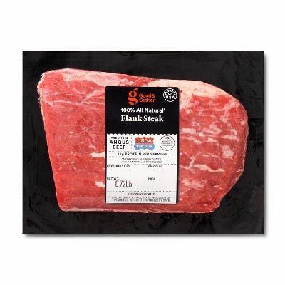 USDA Choice Angus Beef Flank Steak - 0.75-1.25 lbs - price per lb - Good & Gather™