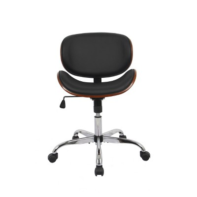 Modern Curved Back Office Chair - WOVENBYRD