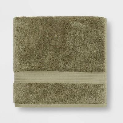 Antimicrobial Bath Towel Olive Green - Total Fresh