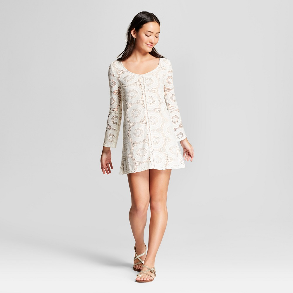 Women's Medallion Lace Dress - Lots of Love by Speechless (Juniors') White XS, Size: XS was $29.98 now $13.49 (55.0% off)